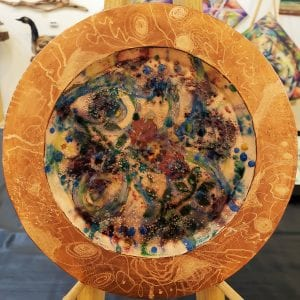 Enameled Copper Garden Plate